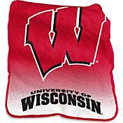 Wisconsin Badgers Raschel Throw