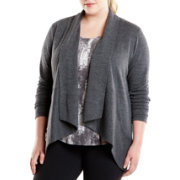 lucy Women's Plus Size Tranquility Slub Wrap Jacket