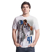 Levelwear Men's Dallas Mavericks Dirk Nowitzki Highlight White T-Shirt
