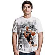 Levelwear Men's San Antonio Spurs Tony Parker Center Court White T-Shirt