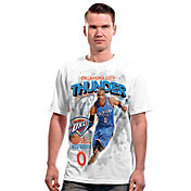 Levelwear Men's Oklahoma City Thunder Russell Westbrook Center Court White T-Shirt