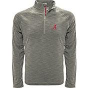 Levelwear Men's Alabama Crimson Tide Grey Mobility Long Sleeve Quarter-Zip Shirt