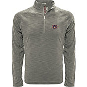 Levelwear Men's Auburn Tigers Grey Mobility Long Sleeve Quarter-Zip Shirt