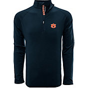 Levelwear Men's Auburn Tigers Blue Metro Quarter-Zip Pullover