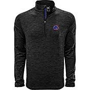 Levelwear Men's Boise State Broncos Grey Armour Quarter-Zip Shirt