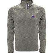 Levelwear Men's Boise State Broncos Grey Mobility Long Sleeve Quarter-Zip Shirt