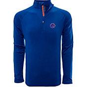 Levelwear Men's Boise State Broncos Blue Metro Quarter-Zip Pullover