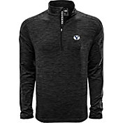 Levelwear Men's Brigham Young Cougars Grey Armour Quarter-Zip Shirt
