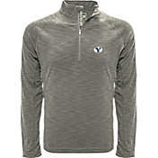 Levelwear Men's Brigham Young Cougars Grey Mobility Long Sleeve Quarter-Zip Shirt