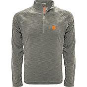 Levelwear Men's Clemson Tigers Grey Mobility Long Sleeve Quarter-Zip Shirt
