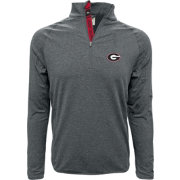 Levelwear Men's Georgia Bulldogs Grey Metro Quarter-Zip