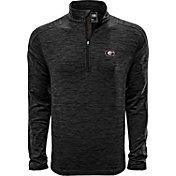 Levelwear Men's Georgia Bulldogs Grey Armour Quarter-Zip Shirt