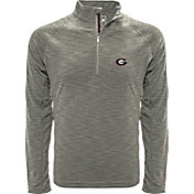 Levelwear Men's Georgia Bulldogs Grey Mobility Long Sleeve Quarter-Zip Shirt