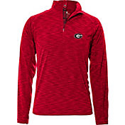 Levelwear Men's Georgia Bulldogs Red Mobility Quarter-Zip