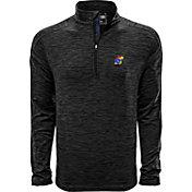 Levelwear Men's Kansas Jayhawks Grey Armour Quarter-Zip Shirt