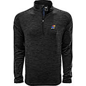 Levelwear Men's Kansas Jayhawks Grey Armour Quarter-Zip Shirt