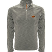 Levelwear Men's Oklahoma Sooners Grey Mobility Long Sleeve Quarter-Zip Shirt