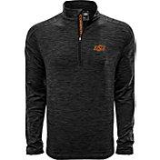 Levelwear Men's Oklahoma State Cowboys Grey Armour Quarter-Zip Shirt
