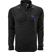 Levelwear Men's Kentucky Wildcats Grey Armour Quarter-Zip Shirt