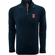 Levelwear Men's Illinois Fighting Illini Blue Metro Quarter-Zip Pullover