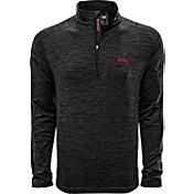 Levelwear Men's Mississippi State Bulldogs Grey Armour Quarter-Zip Shirt