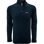 Levelwear Men's Ole Miss Rebels Blue Metro Quarter-Zip Pullover
