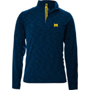 Levelwear Men's Michigan Wolverines Blue Mobility Quarter-Zip