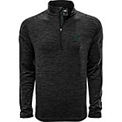Levelwear Men's Michigan State Spartans Grey Armour Quarter-Zip Shirt