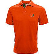 Levelwear Men's Miami Hurricanes Orange Helium Polo