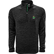 Levelwear Men's Marshall Thundering Herd Grey Armour Quarter-Zip Shirt