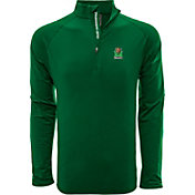 Levelwear Men's Miami Hurricanes Green Metro Quarter-Zip Pullover