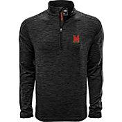 Levelwear Men's Maryland Terrapins Grey Armour Quarter-Zip Shirt