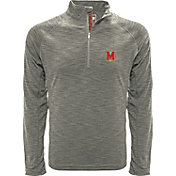 Levelwear Men's Mississippi State Bulldogs Grey Mobility Long Sleeve Quarter-Zip Shirt