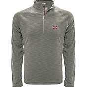 Levelwear Men's Ole Miss Rebels Grey Mobility Long Sleeve Quarter-Zip Shirt