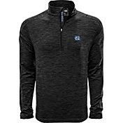 Levelwear Men's Nebraska Cornhuskers Grey Armour Quarter-Zip Shirt