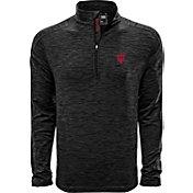 Levelwear Men's Indiana Hoosiers Grey Armour Quarter-Zip Shirt