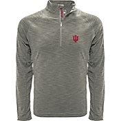 Levelwear Men's Indiana Hoosiers Grey Mobility Long Sleeve Quarter-Zip Shirt