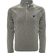 Levelwear Men's Oregon Ducks Grey Mobility Long Sleeve Quarter-Zip Shirt