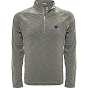 Levelwear Men's Oregon Ducks Grey Mobility Long Sleeve Quarter-Zip Shirt