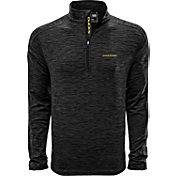 Levelwear Men's Oregon Ducks Grey Armour Quarter-Zip Shirt