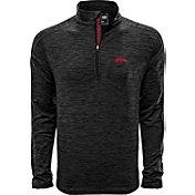 Levelwear Men's Arizona State Sun Devils Grey Armour Quarter-Zip Shirt