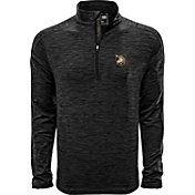 Levelwear Men's Arkansas Razorbacks Grey Armour Quarter-Zip Shirt