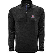 Levelwear Men's Arizona Wildcats Grey Armour Quarter-Zip Shirt