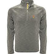 Levelwear Men's Army Black Knights Grey Mobility Long Sleeve Quarter-Zip Shirt