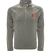 Levelwear Men's Stanford Cardinal Grey Mobility Long Sleeve Quarter-Zip Shirt