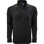 Levelwear Men's TCU Horned Frogs Grey Armour Quarter-Zip Shirt