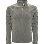 Levelwear Men's Utah Utes Grey Mobility Long Sleeve Quarter-Zip Shirt