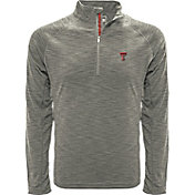 Levelwear Men's Texas AM Aggies Grey Mobility Long Sleeve Quarter-Zip Shirt