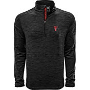 Levelwear Men's Texas Tech Red Raiders Grey Armour Quarter-Zip Shirt
