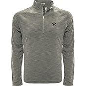 Levelwear Men's Vanderbilt Commodores Grey Mobility Long Sleeve Quarter-Zip Shirt